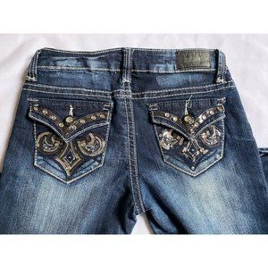 ZCO Distressed Studded Skinny Jeans Flap Pockets